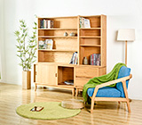 高级仿木书柜套
